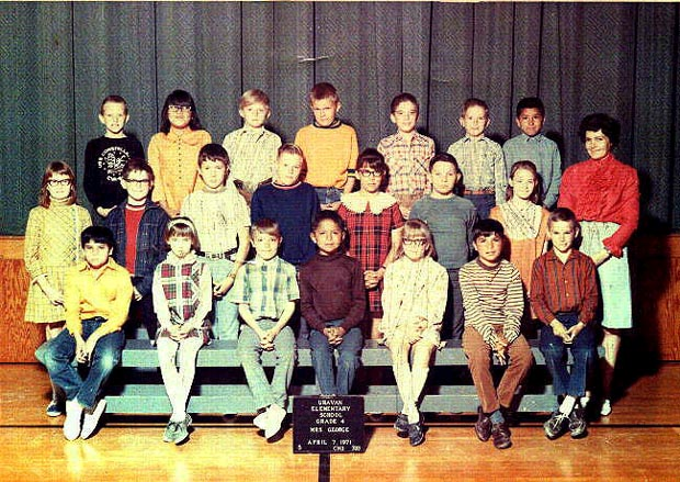 Click here to see a larger version of 1970-71, 4th grade