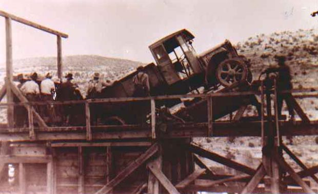 Click here to see a larger version of Ore truck unloading