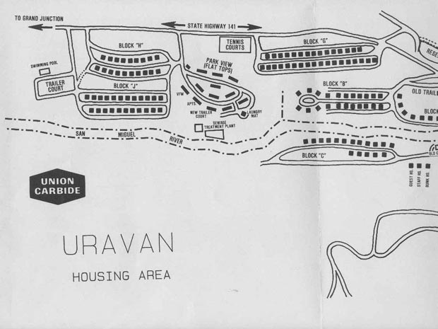 Click here to see a larger version of Street Map Uravan #1