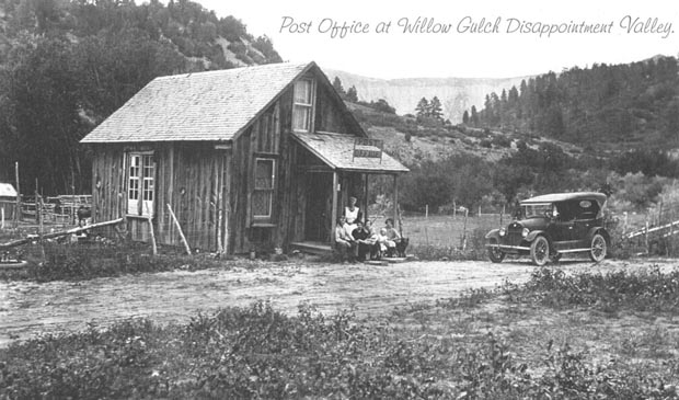 Click here to see a larger version of Willow Gulch Post Office